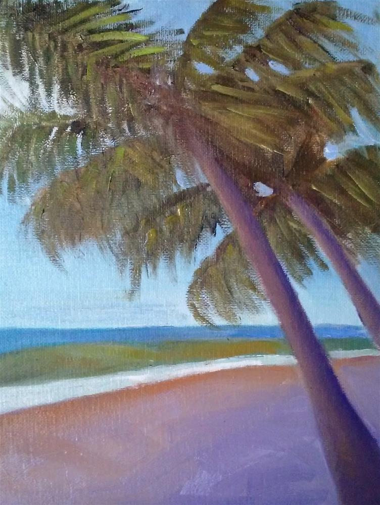 """Palm Trees"" original fine art by Gerri Obrecht"