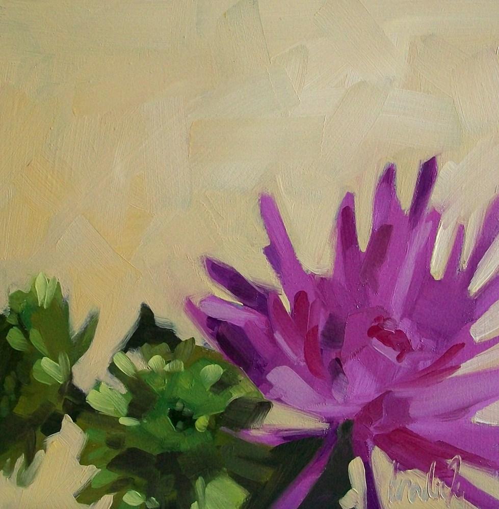 """Pink and green"" original fine art by Brandi Bowman"