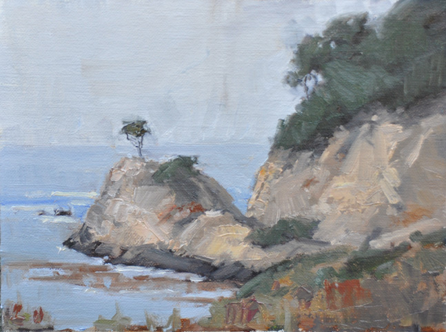 """Point Lobos Cypress"" original fine art by Julie Davis"