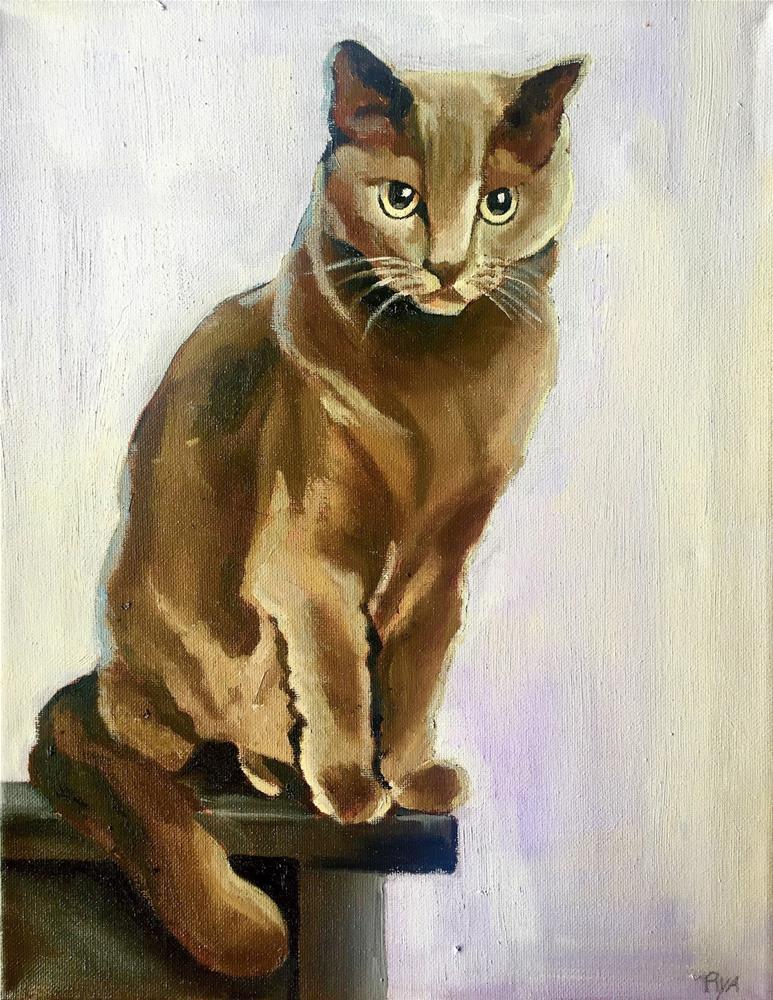 """""""Kitty"""" original fine art by Piya Samant"""