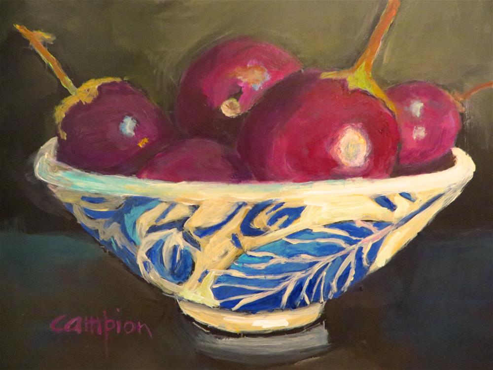 """611 Indian Eggplant"" original fine art by Diane Campion"