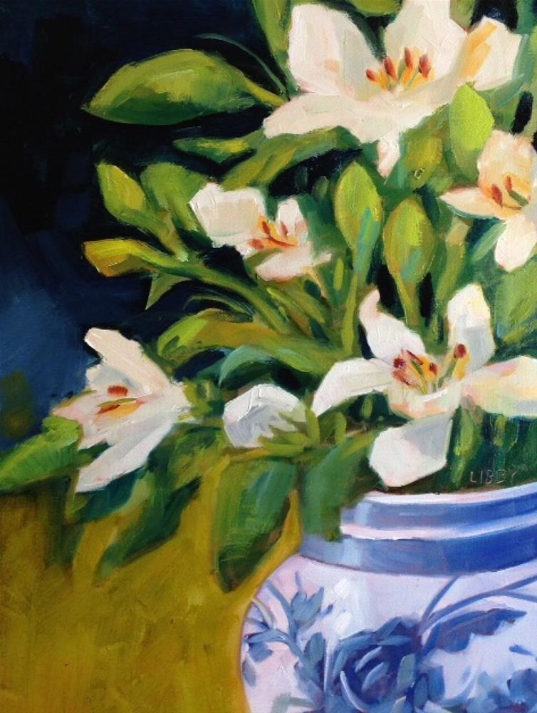 """Lucid Lilies"" original fine art by Libby Anderson"