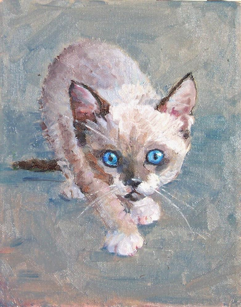 """Wild and Crazy,portrait,oil on canvas,10x8,price$400"" original fine art by Joy Olney"