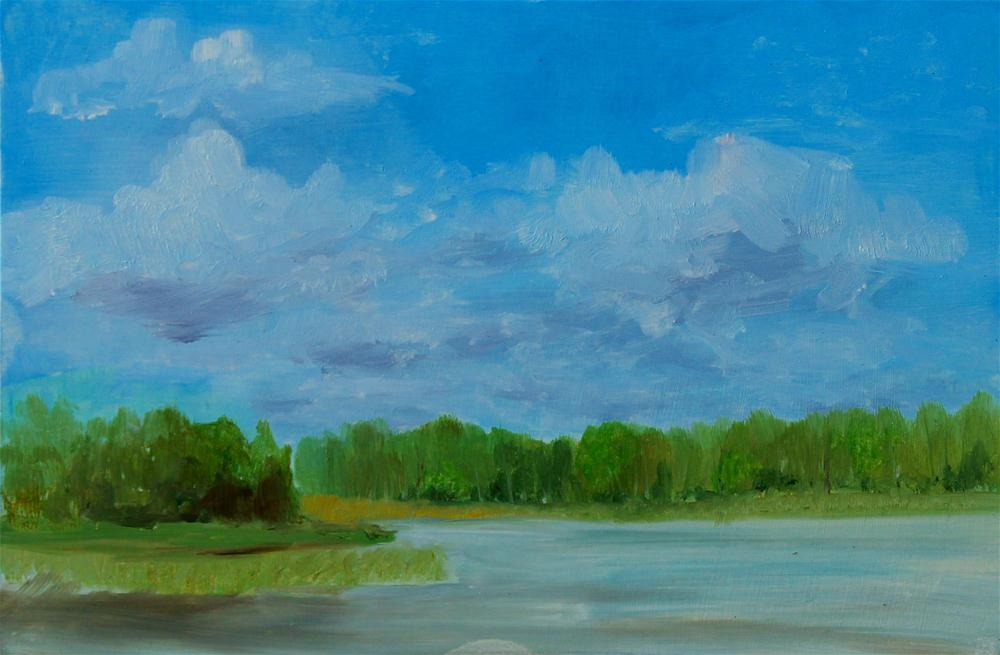 Wetland area original fine art by Darlene Mowatt