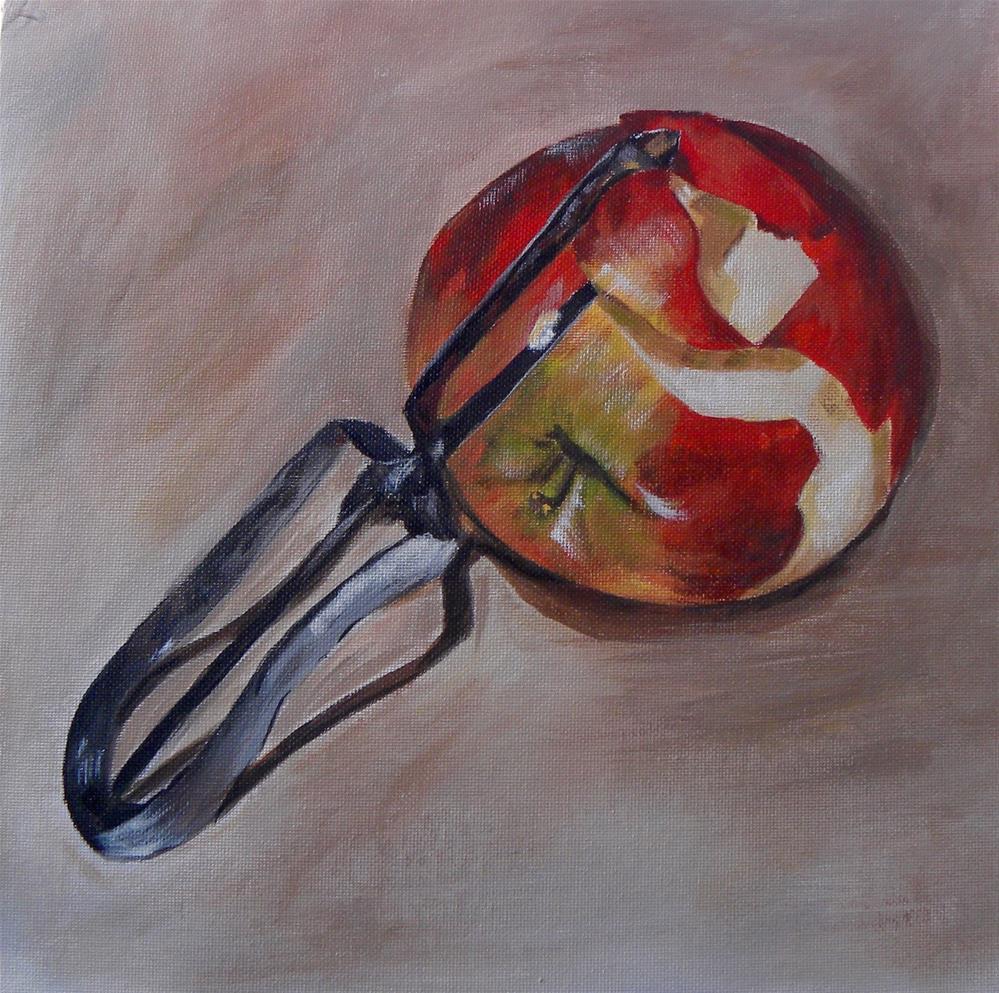"""Apple Peel"" original fine art by cheryl buhrman"