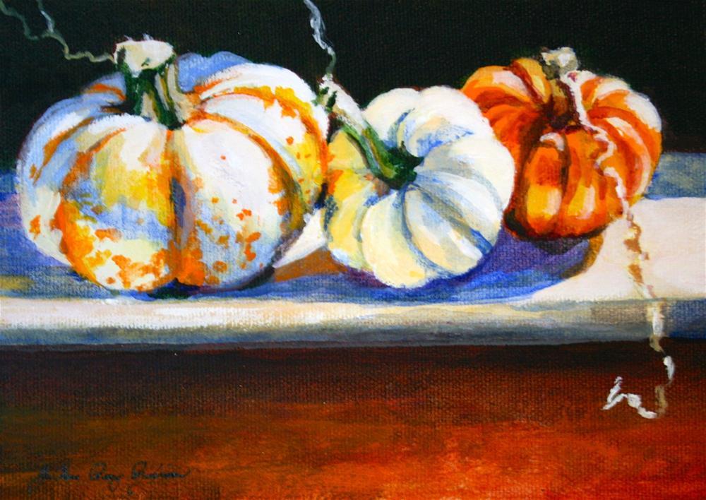 """Baby Gourds"" original fine art by JoAnne Perez Robinson"