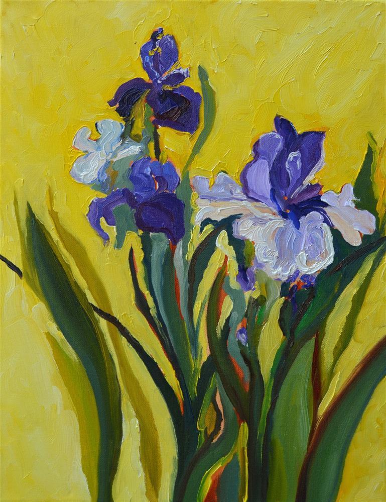 """Amethyst Irises"" original fine art by Loralee Chapleau"