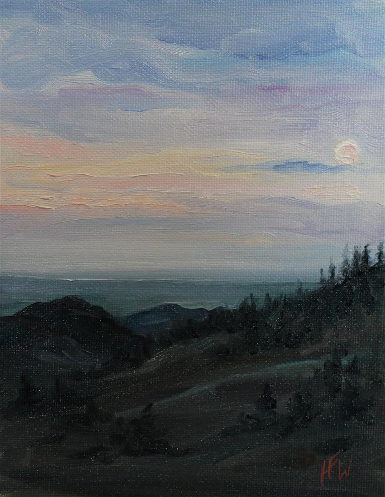 """Moon Rise"" original fine art by H.F. Wallen"