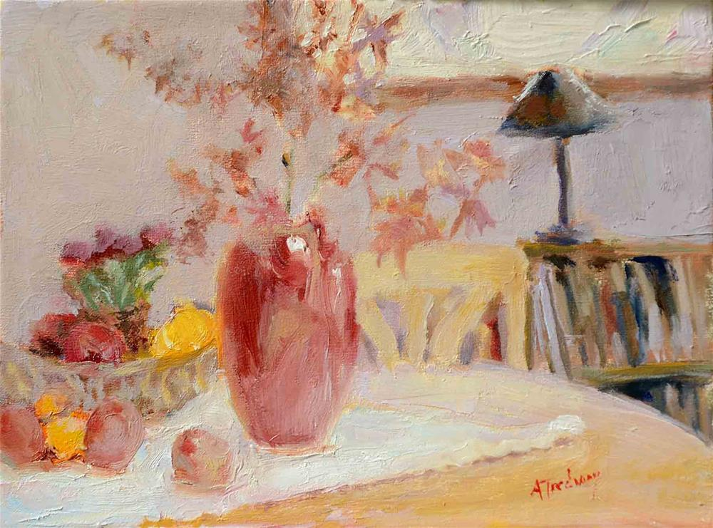"""Red Vase"" original fine art by alicia tredway"