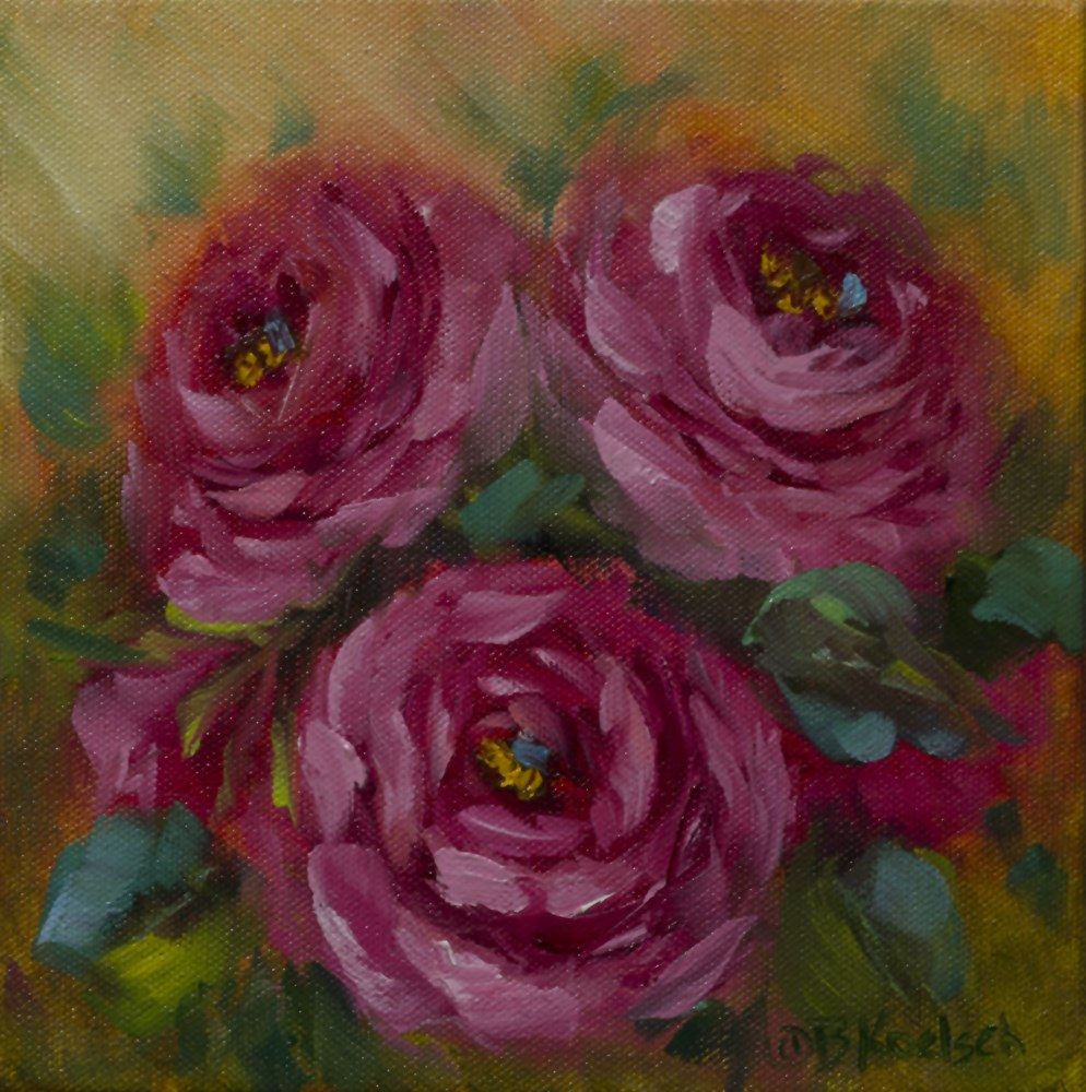 """Hot Rouge Roses"" original fine art by Bobbie Koelsch"