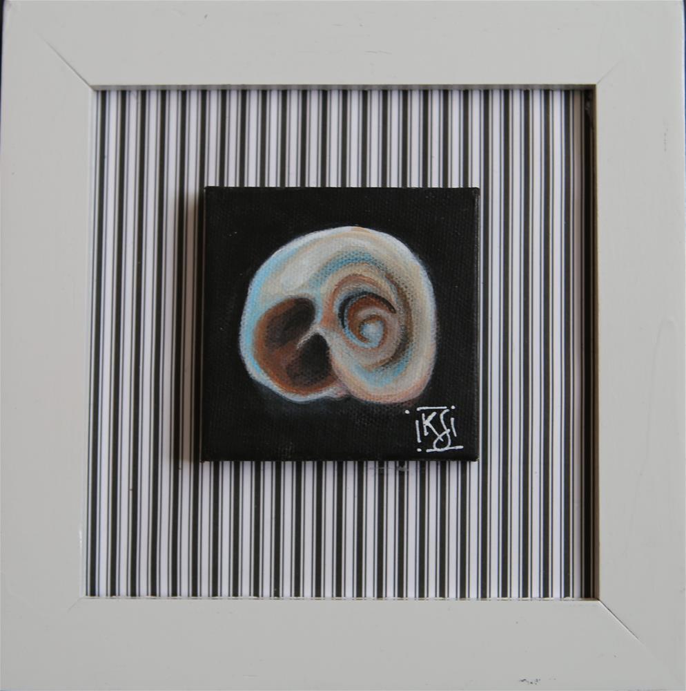 """She sells seashells 1"" original fine art by Kathleen Straube"