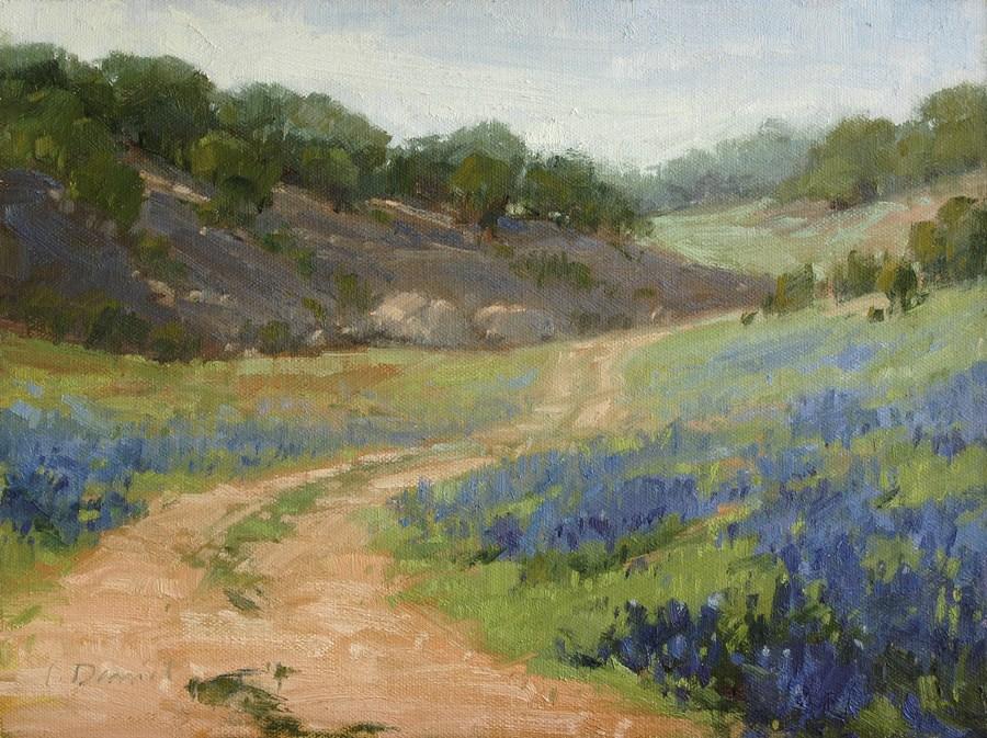 """Spring Bloom - plein air demo"" original fine art by Laurel Daniel"