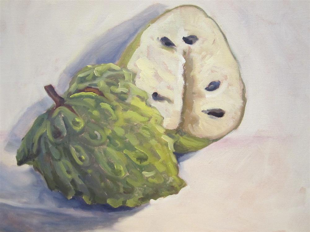 """""""Cherimoyas"""" original fine art by Leigh Alexandra Sparks"""