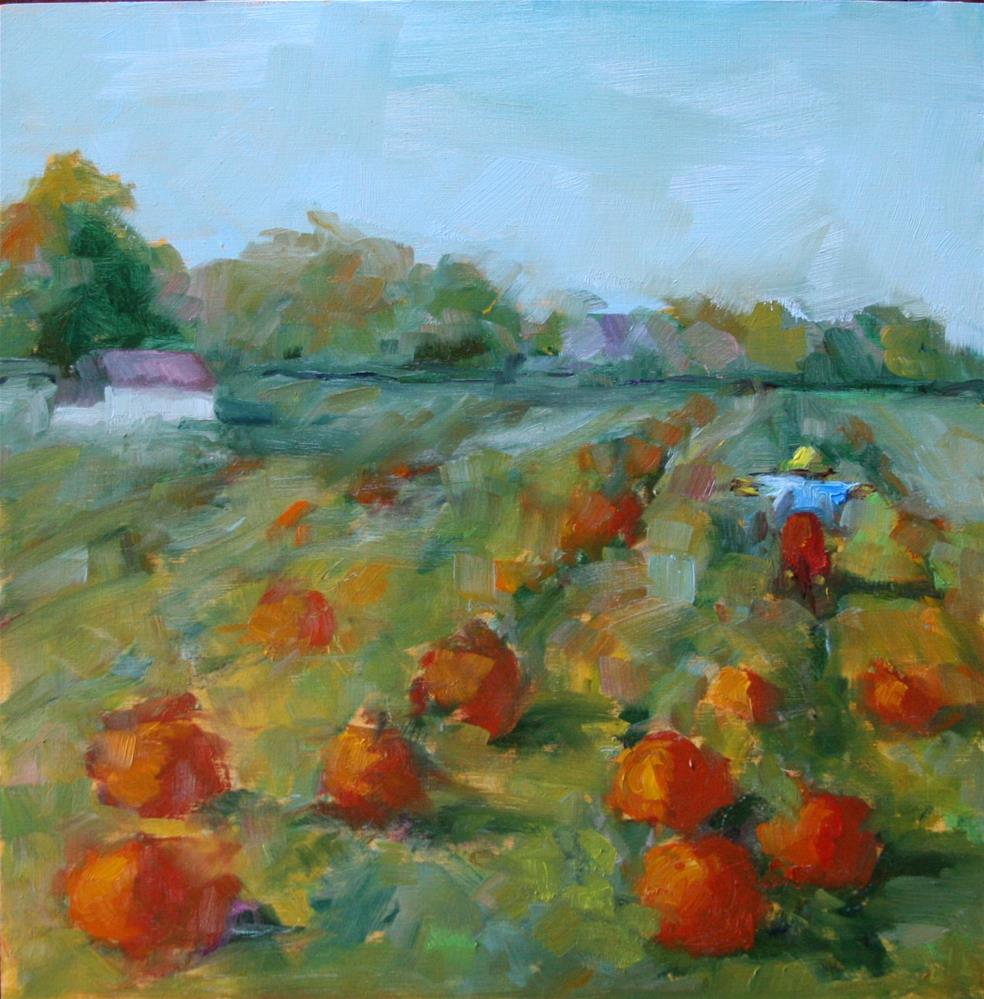"""Getting Ready for October"" original fine art by Carol Josefiak"