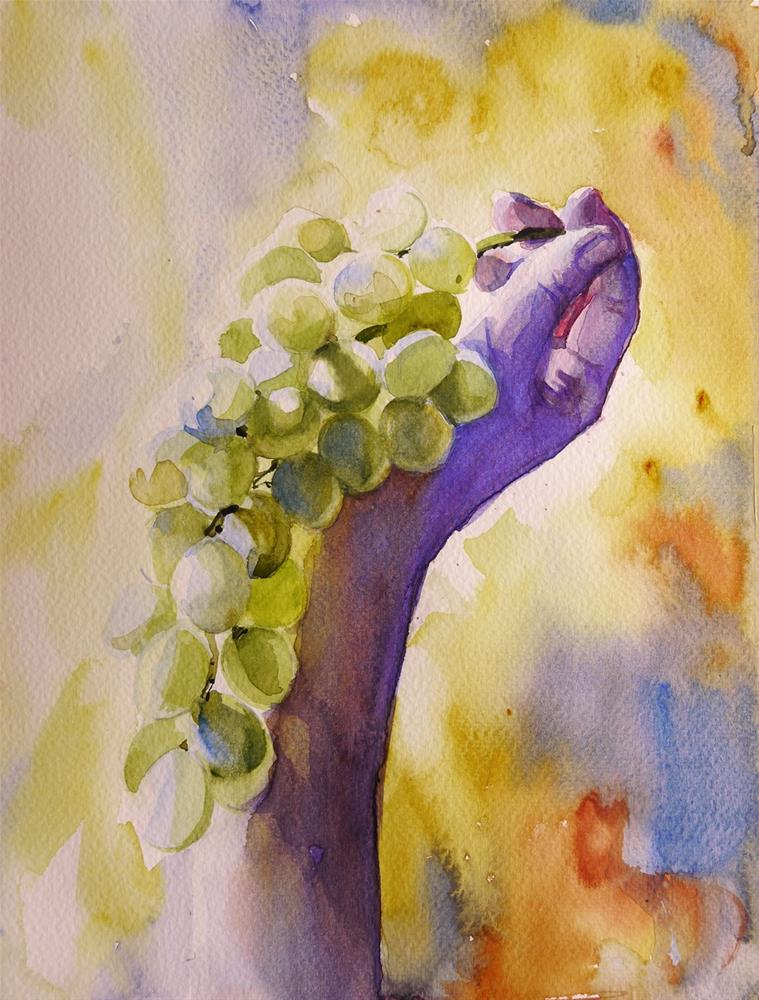 """grape1"" original fine art by Beata Musial-Tomaszewska"