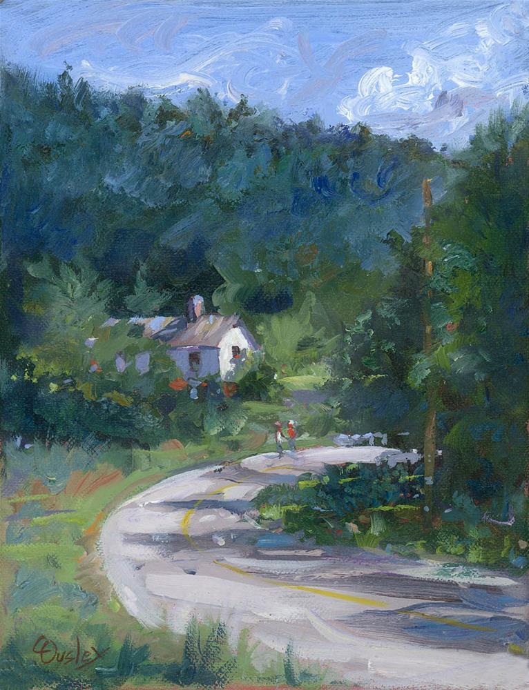 """Summer Stroll"" original fine art by Chris Ousley"