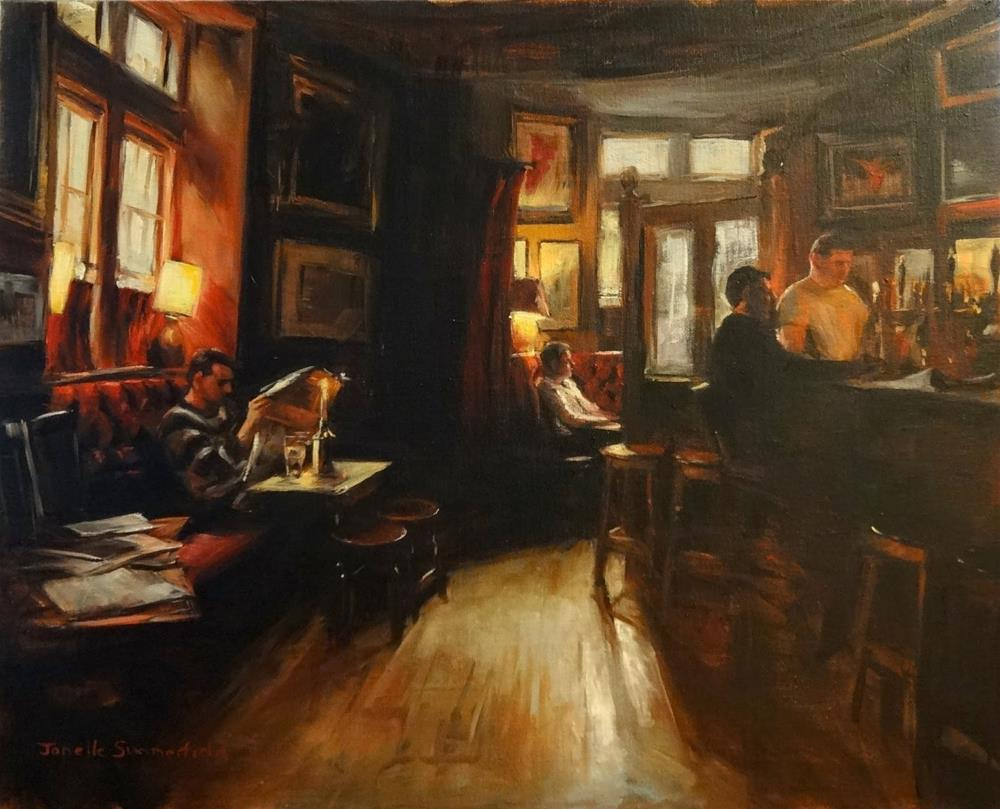"""The Oval Pub"" original fine art by Jonelle Summerfield"