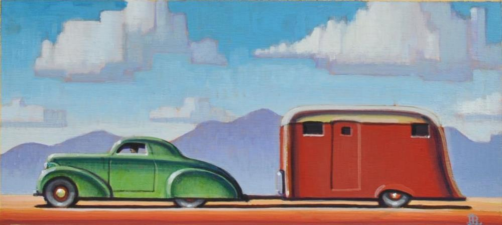 """Camping"" original fine art by Robert LaDuke"