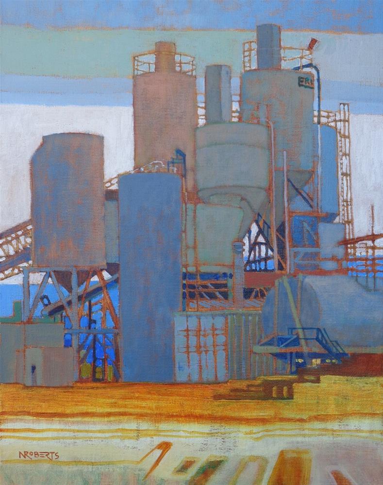 """Westside Concrete"" original fine art by Nancy Roberts"