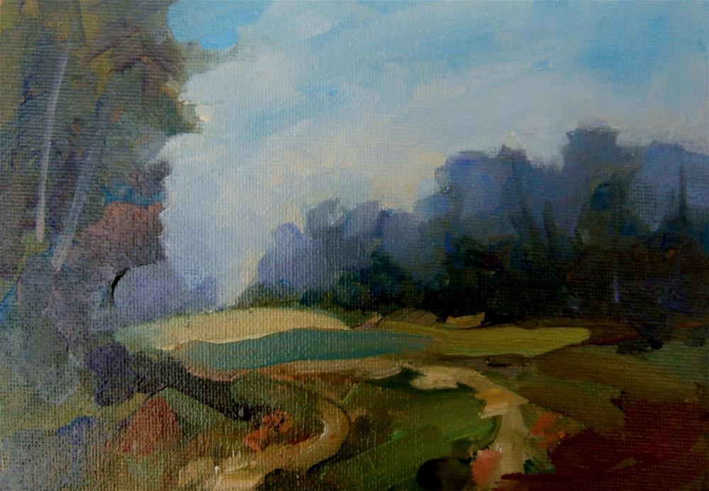 """Summer Field"" original fine art by Anne Wood"
