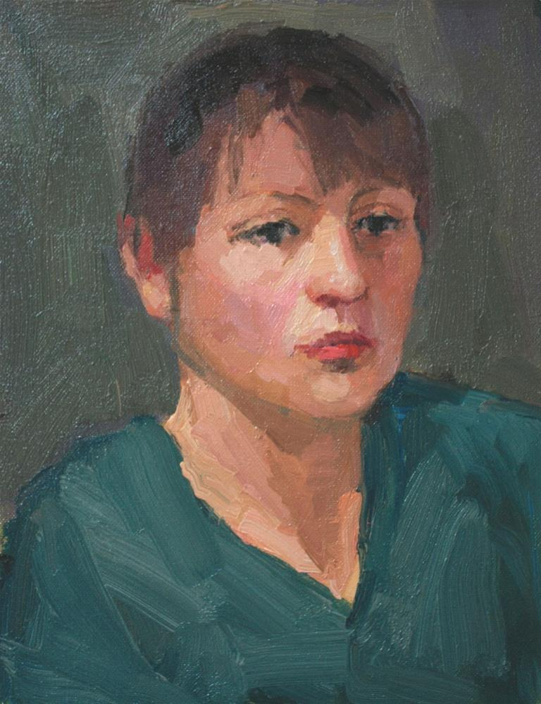 """Portrait Study #11"" original fine art by Kathryn Townsend"
