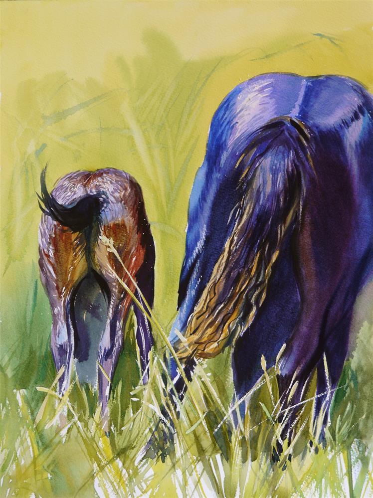 """horses after rain"" original fine art by Beata Musial-Tomaszewska"