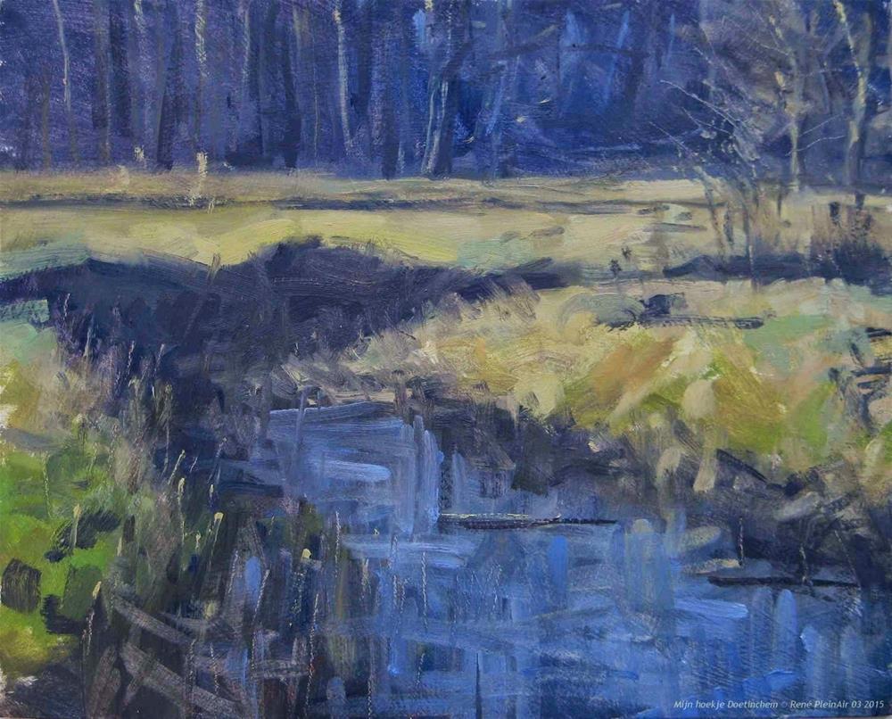 """My little corner Doetinchem, The Netherlands"" original fine art by René PleinAir"
