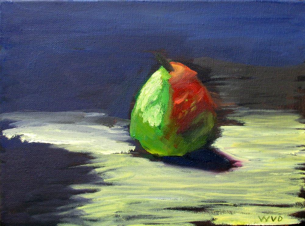 """Pear Indigo"" original fine art by Will Dargie"