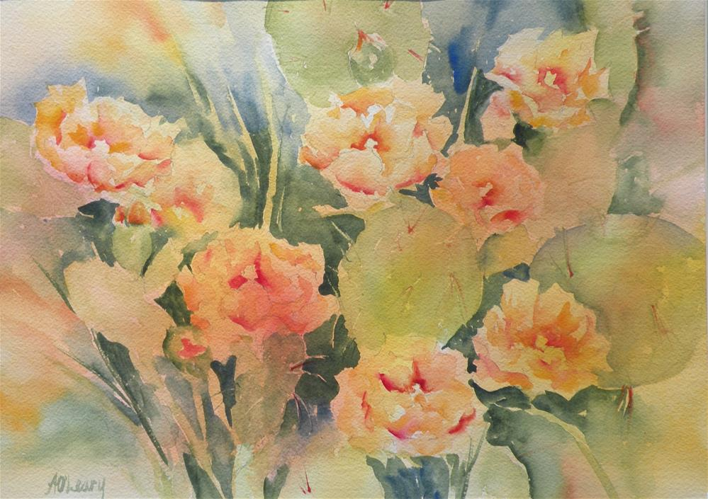 """Hill Country Blooms"" original fine art by Alice O'Leary"