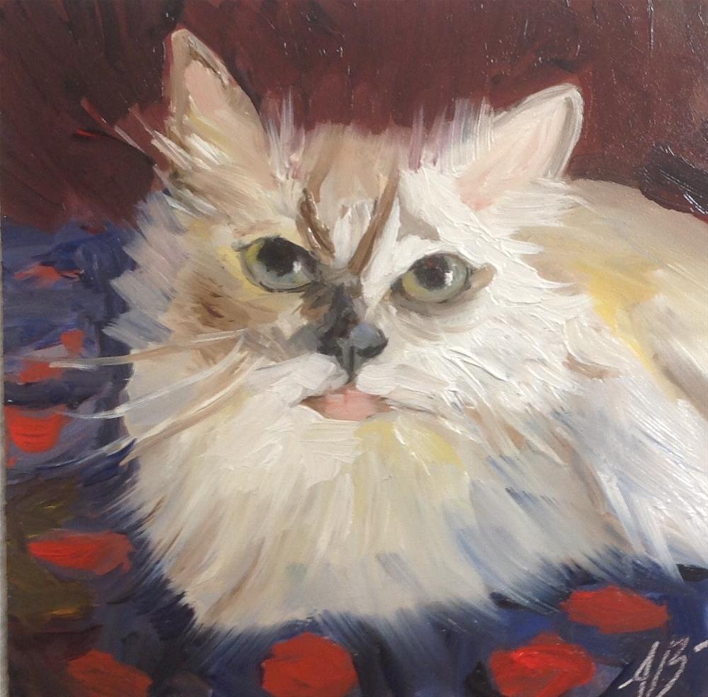 """A Cat that's Loved"" original fine art by Annette Balesteri"