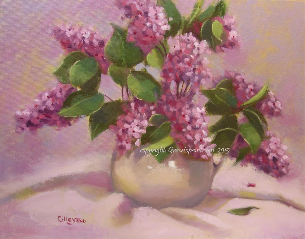 """Lilac"" original fine art by Maresa Lilley"