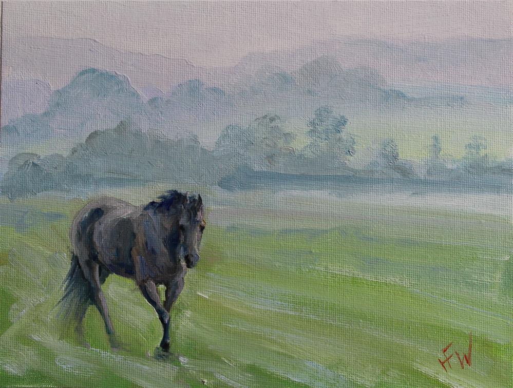 """Foggy Morning"" original fine art by H.F. Wallen"