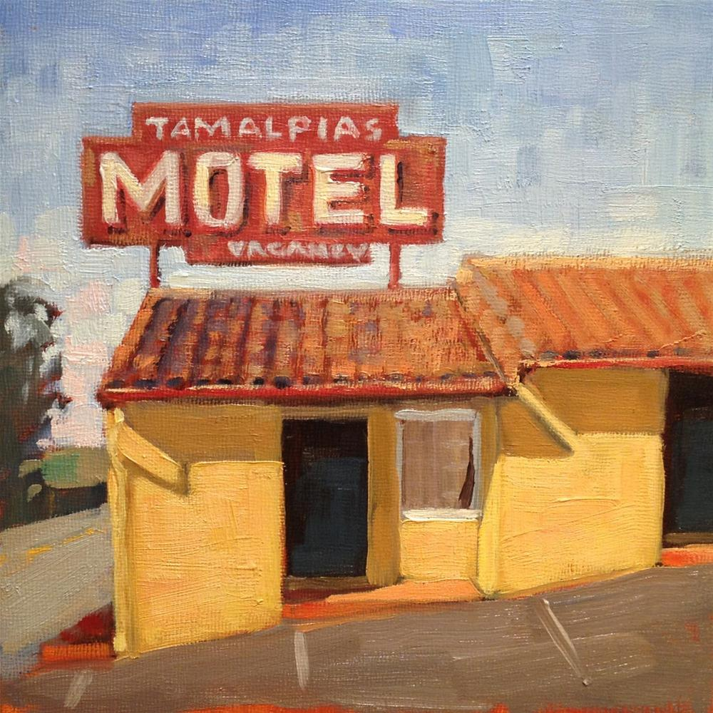 """Motel"" original fine art by Deborah Newman"