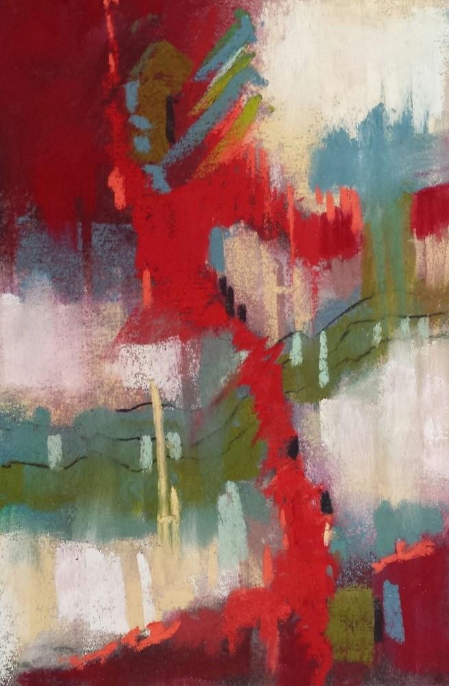 """""""City Folk"""" original fine art by Cindy Haase"""