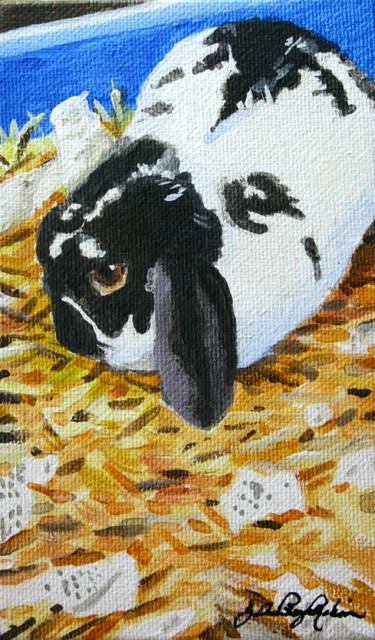 """""""Dalmatain Bunny"""" original fine art by JoAnne Perez Robinson"""