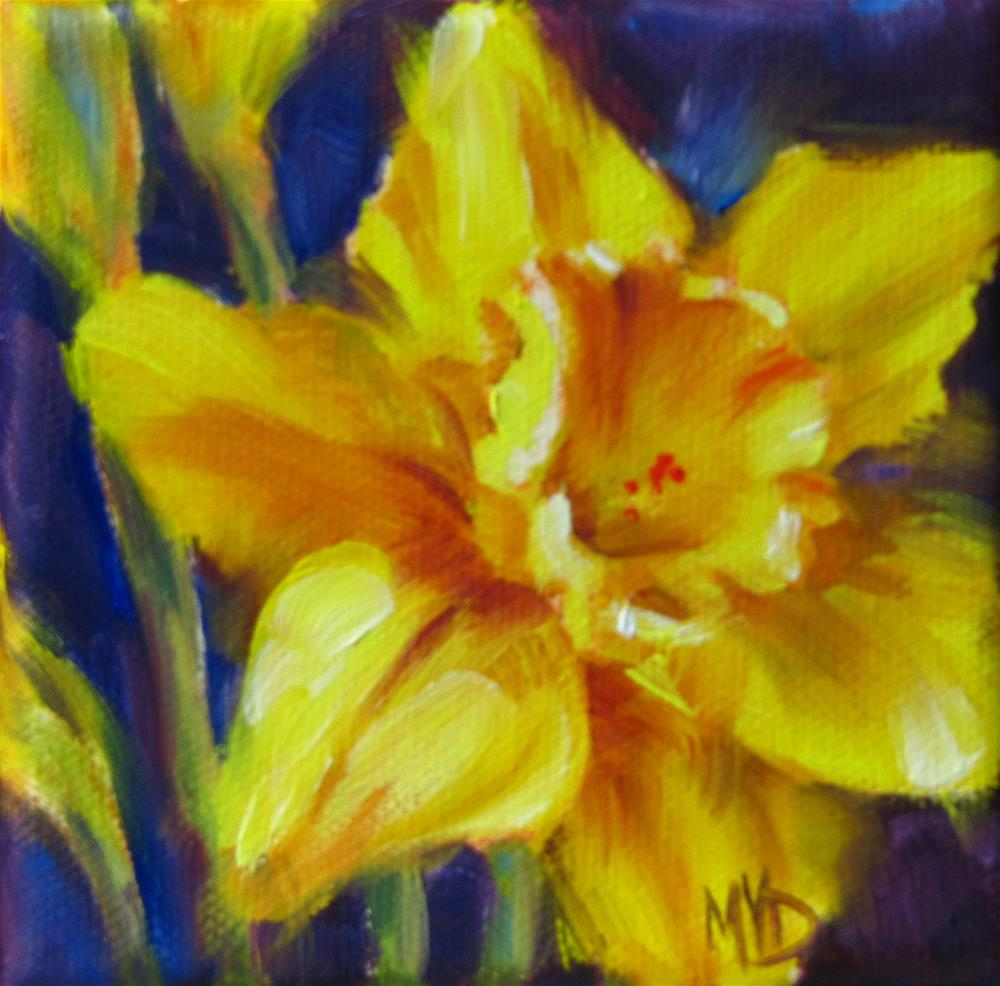 """Narcissus Yellow"" original fine art by Mary Van Deman"