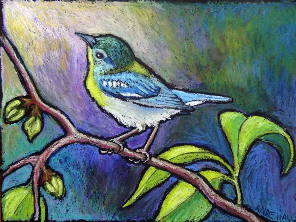 """Northern Parula"" original fine art by Ande Hall"