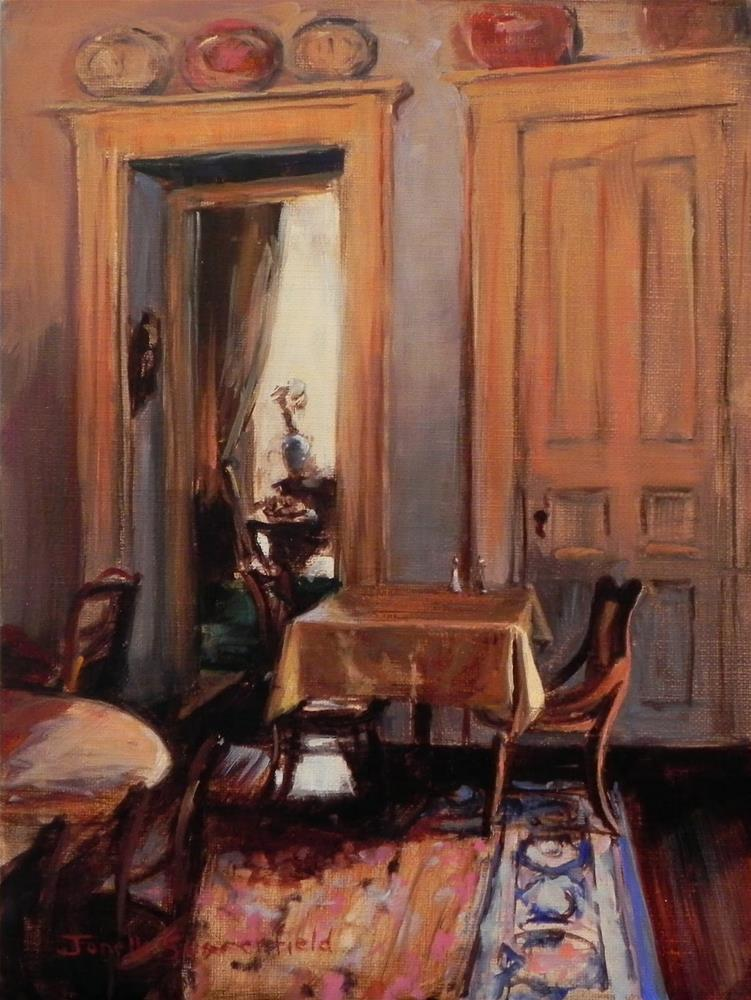 """Dining Room"" original fine art by Jonelle Summerfield"