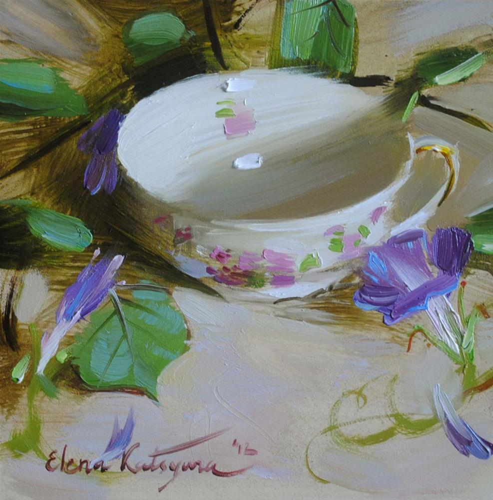 """The teacup"" original fine art by Elena Katsyura"