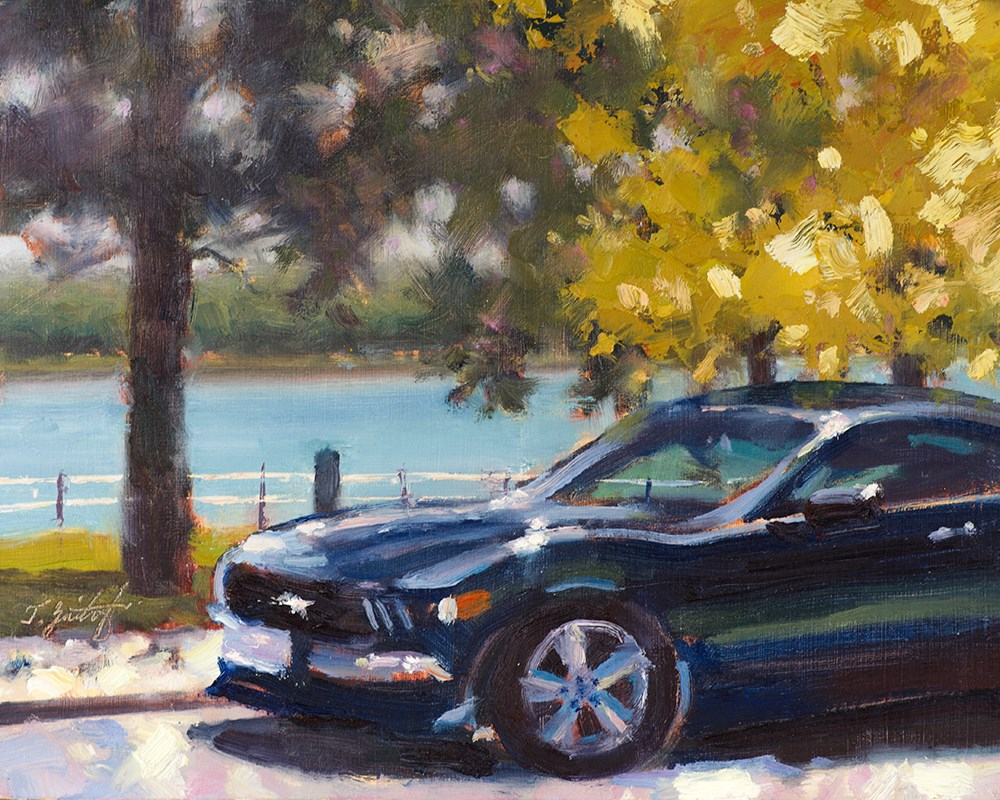 """Port Huron Pony"" original fine art by Todd Zuithof"