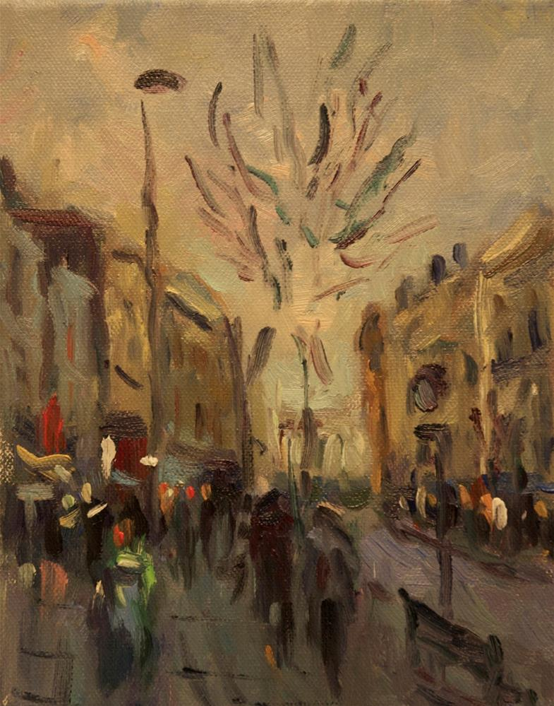 """'South Street'"" original fine art by Andre Pallat"