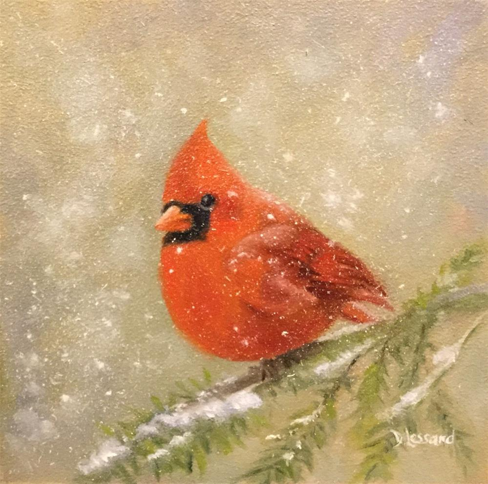 """Snow Bird #1614"" original fine art by Dee Lessard"