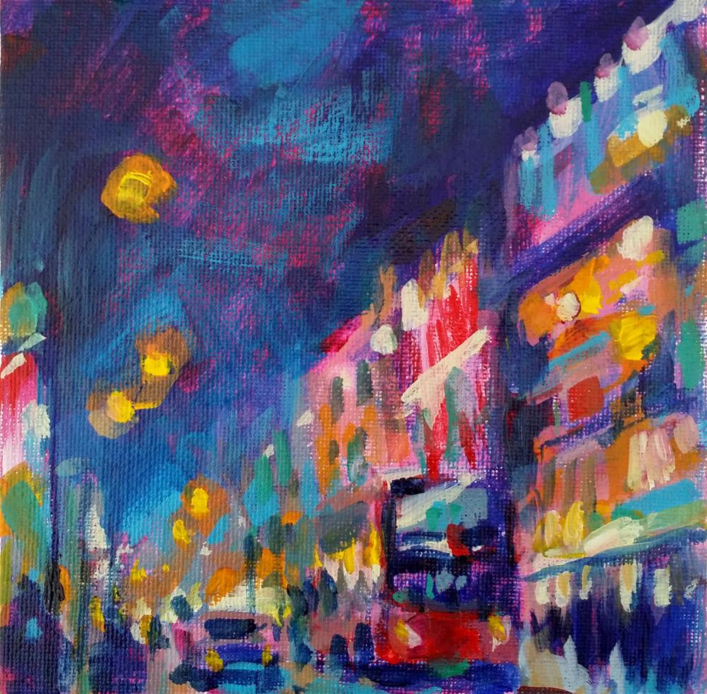"""cityscape n°2"" original fine art by Catherine Harley"
