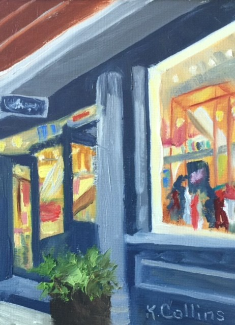 """Kate Spade Shop"" original fine art by Kathy Collins"