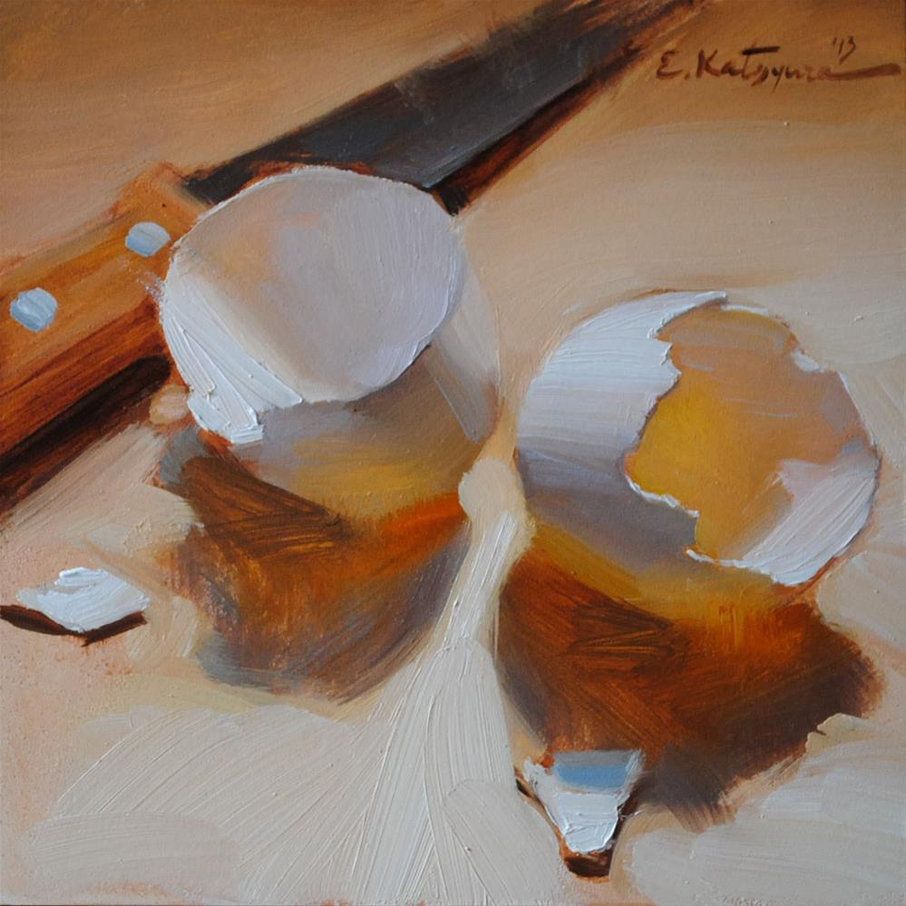 """Split Shells"" original fine art by Elena Katsyura"
