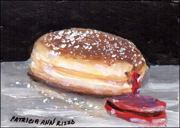 """Jelly Donut"" original fine art by Patricia Ann Rizzo"