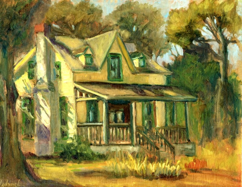 """Bidwell House"" original fine art by Sharon Yarbrough"