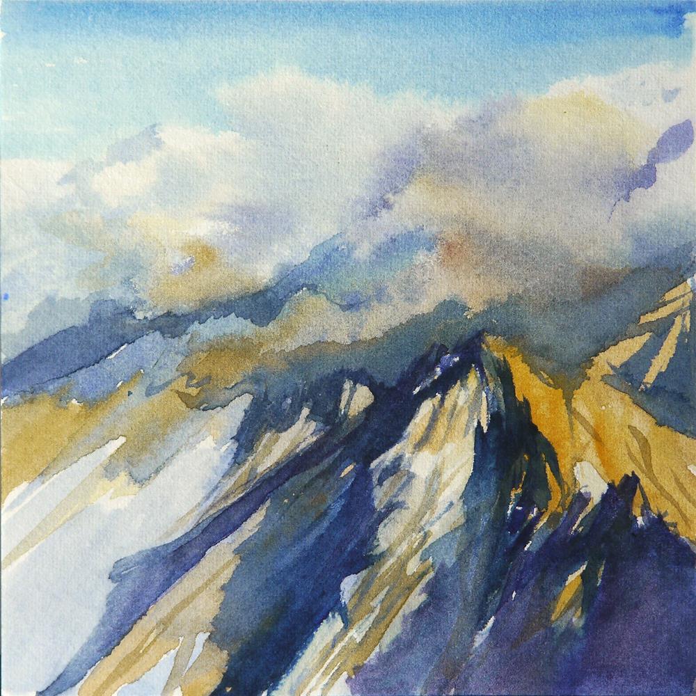 """overcast peaks"" original fine art by Beata Musial-Tomaszewska"