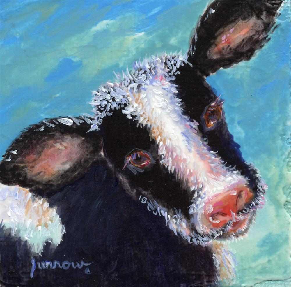 """Mini Moo No.1"" original fine art by Sue Furrow"