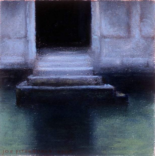 """Misty Doorway - Venice"" original fine art by Joe Fitzgerald"